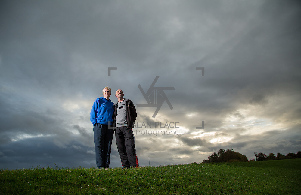 17.10.2016                 <br /> Haley and Drew Harrison, Athletics Coaches pictured at the University of Limerick.<br /> Picture: Alan Place