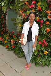 A*M*E (Aminata Kabba) at a 'Tropical fete' at Kate Spade New York, 2 Symons Street, Sloane Square, London in celebration of the Chelsea Flower Show on 22nd May 2014.