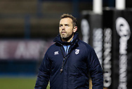 Cardiff Blues' Head Coach Danny Wilson during the pre match warm up<br /> <br /> Photographer Simon King/Replay Images<br /> <br /> Guinness Pro14 Round 9 - Cardiff Blues v Connacht Rugby - Friday 24th November 2017 - Cardiff Arms Park - Cardiff<br /> <br /> World Copyright © 2017 Replay Images. All rights reserved. info@replayimages.co.uk - www.replayimages.co.uk