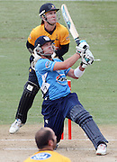 Ace's batsman Lou Vincent batting during his record breaking Twenty20 century.<br />