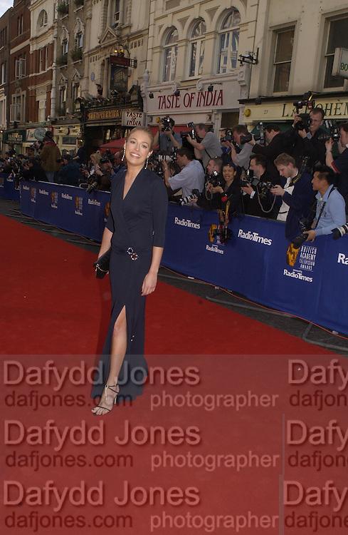 Cat Deeley.  TV Bafta Awards. 21 April 2002. © Copyright Photograph by Dafydd Jones 66 Stockwell Park Rd. London SW9 0DA Tel 020 7733 0108 www.dafjones.com