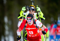 LANDERTINGER Dominik of Austria competes during Men 15 km Mass start competition of the e.on IBU Biathlon World Cup on Thursday, December 16, 2012 in Pokljuka, Slovenia. The third e.on IBU World Cup stage is taking place in Rudno polje - Pokljuka, Slovenia until Sunday December 16, 2012. (Photo By Vid Ponikvar / Sportida.com)