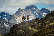 Hikers explore the White Pass in Northern British Columbia.