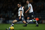 Preston North End defender Greg Cunningham (3) during the EFL Sky Bet Championship match between Preston North End and Brighton and Hove Albion at Deepdale, Preston, England on 14 January 2017.