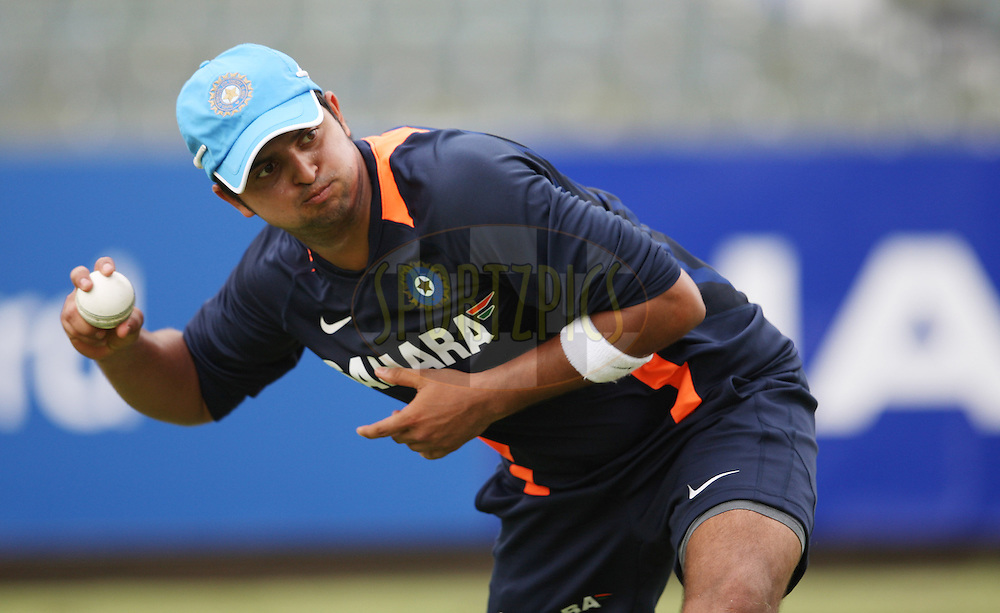 Suresh Raina during the South Africa and India team practice sessions held at Kingsmead Stadium in Durban on the 10 January 2011 ( The 1st ODI between South Africa and India is due to be held at Kingsmead Stadium on the 12th January 2011 )..Photo by Steve Haag/BCCI/SPORTZPICS