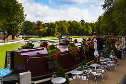 According to the Met Office, August 31st marks the last day of summer and there certainly is a bit of a nip in the air around Little Venice in London as people relax outside the Waterside Cafe, a floating restaurant. London, August 31 2018.