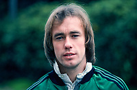 Sammy McIlroy, footballer, Manchester United and N Ireland, 198011000370.<br /> <br /> Copyright Image from Victor Patterson, 54 Dorchester Park, Belfast, UK, BT9 6RJ<br /> <br /> t: +44 28 9066 1296 (from Rep of Ireland 048 9066 1296)<br /> m: +44 7802 353836<br /> <br /> victorpattersonbelfast@gmail.com<br /> www.victorpatterson.com<br /> <br /> Please see my Terms and Conditions of Use at https://www.victorpatterson.com/page2<br /> It is IMPORTANT that you familiarise yourself with them.<br /> <br /> Images used online incur an additional cost and must be visibly watermarked i.e. © Victor Patterson within the body of the image and copyright metadata must not be deleted. Images used on the Internet have a size restriction of 4kbs and are chargeable at rates available at victorpatterson.com.<br /> <br /> This image is only available for the use of the download recipient i.e. television station, newspaper, magazine, book publisher, etc, and must not be passed on to any third party. It is also downloaded on condition that each and every subsequent usage is notified within 7 days to victorpattersonbelfast@gmail.com<br /> <br /> The right of Victor Patterson to be identified as the author is asserted in accordance with The Copyright Designs And Patents Act (1988). All moral rights are asserted.