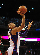 Feb. 2, 2011; Phoenix, AZ, USA; Phoenix Suns forward Grant Hill (33) puts up a basket against the Milwaukee Bucks at the US Airways Center. The Suns defeated the Bucks 92-77. Mandatory Credit: Jennifer Stewart-US PRESSWIRE