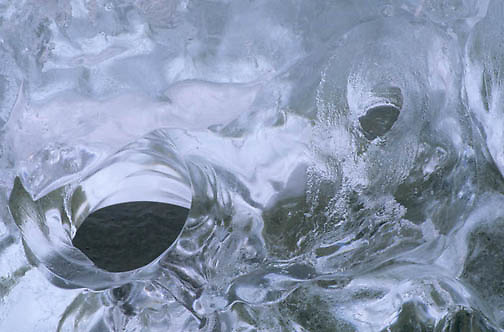 Abstract, Close up of ice. Southeast  Alaska.