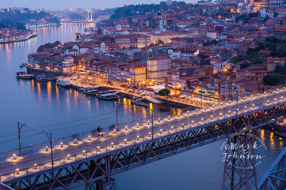Dom Luis I Bridge over the Douro River, Porto, Portugal