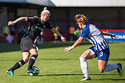 Bethany England (Chelsea) with Fliss Gibbons (Brighton) right in front during the FA Women's Super League match between Brighton and Hove Albion Women and Chelsea at The People's Pension Stadium, Crawley, England on 15 September 2019.