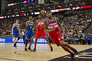 Washington Wizards Bradley Beal (3) during the NBA London Game match between Washington Wizards and New York Knicks at the O2 Arena, London, United Kingdom on 17 January 2019.