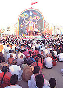 IM# 001.Sri Vishnu Sahasranama Parayanam,a huge Hindu religious congregation,on the sands of the Marina beach,Chennai,Tamilnadu,India.<br /> The Marina beach,in the past,was the stage for several huge religious and political gatherings.Now such events are banned.