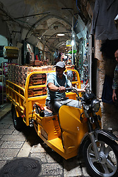 A delivery vehicle in the Armenian quarter of the Old City of Jerusalem. From a series of travel photos taken in Jerusalem and nearby areas. Photo date: Thursday, August 2, 2018. Photo credit should read: Richard Gray/EMPICS