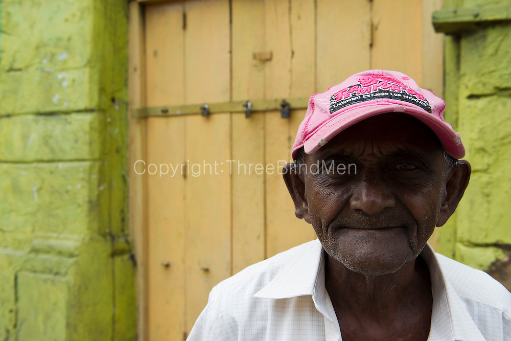 Gentleman with Terminator cap in Slave Island, Colombo.