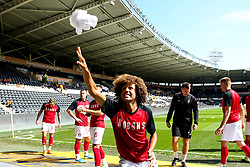 Han-Noah Massengo of Bristol City throws a shirt into the crowd - Mandatory by-line: Robbie Stephenson/JMP - 24/08/2019 - FOOTBALL - KCOM Stadium - Hull, England - Hull City v Bristol City - Sky Bet Championship