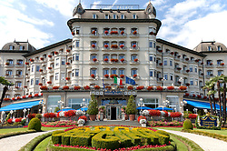 """One of Stresa's magnificent """"Grande Dame"""" hotels, the Regina Palace looks out over Lake Maggiore, queen of all she surveys."""