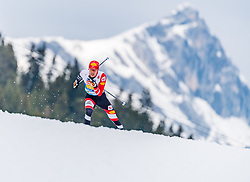 02.03.2019, Seefeld, AUT, FIS Weltmeisterschaften Ski Nordisch, Seefeld 2019, Nordische Kombination, Langlauf, Team Bewerb 4x5 km, im Bild Franz-Josef Rehrl (AUT) // Franz-Josef Rehrl of Austria during the Cross Country Team competition 4x5 km of Nordic Combined for the FIS Nordic Ski World Championships 2019. Seefeld, Austria on 2019/03/02. EXPA Pictures © 2019, PhotoCredit: EXPA/ Stefan Adelsberger