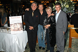 Left to right, STEPHEN WAY, PAUL KEATING, GLORIA HUNNIFORD and MICHAEL KEATING at a party to celebrate the publication of 'Next To You' - Caron's Courage remembered by her mother Gloria Hunniford held on Caron's birthday at The Hilton Park Lane, London on 5th Octobe 2005.<br /><br />NON EXCLUSIVE - WORLD RIGHTS