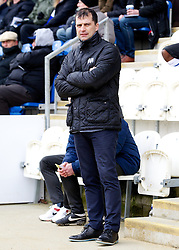 COLCHESTER, ENGLAND - Saturday, February 23, 2013: Colchester United's manager Joe Dunne before the Football League One match against Tranmere Rovers at the Colchester Community Stadium. (Pic by Vegard Grott/Propaganda)