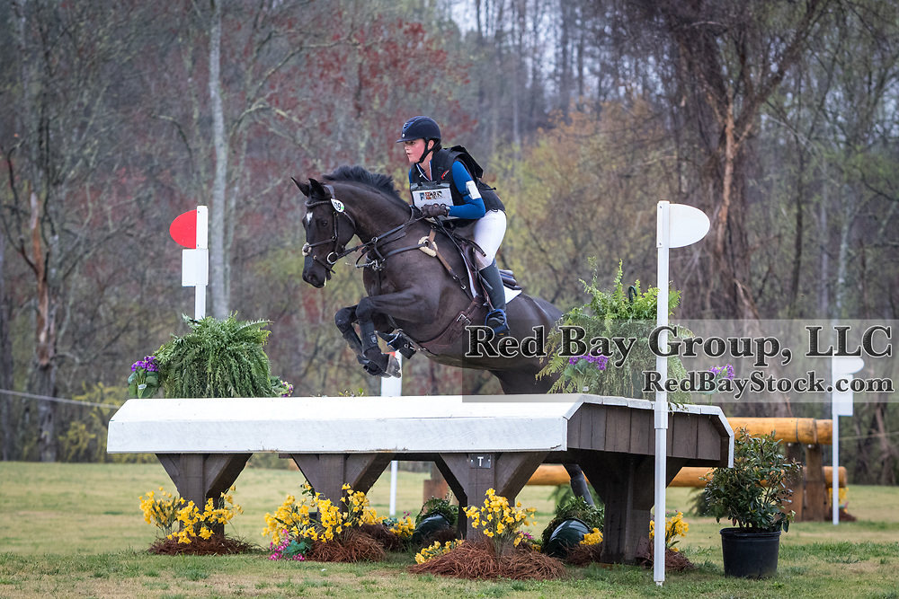 Kristine Burgess and Malvasia Istriana at The Fork Horse Trials at the Tryon International Equestrian Center in Mill Spring, North Carolina.