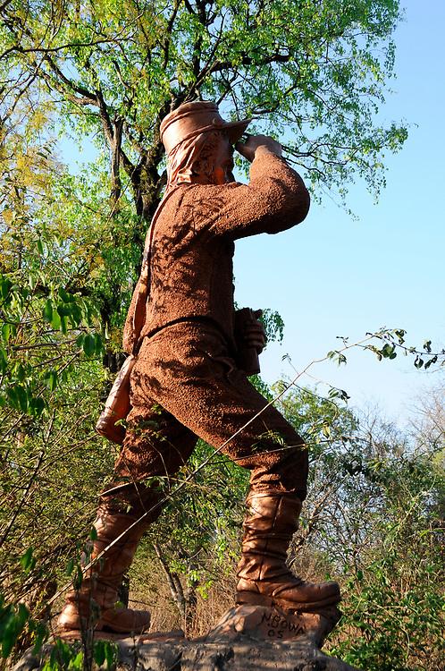 David Livingstone Statue, Mosi-Oa Tunya National Park, at Zambesi River, Livingstone, Southern Province, Zambia