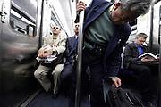 people inside the Paris metro