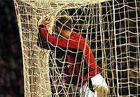 A DEJECTED NICKY BUTT MANCHESTER UNITED<br /> MANCHESTER UNITED V F.C PORTO CHAMPIONS LEAGUE 09/03/04  <br /> PHOTO ROBIN PARKER FOTOSPORTS INTERNATIONAL