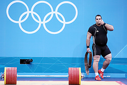 Olympic Games London 2012 - Olympische Spiele London 2012, Great Britain - Grossbritanien, weight lifting - Gewichtheben, men + 105kg - Maenner ueber 105kg, Gold medal winner Irans's Behdad Salimikordasiabi.© pixathlon