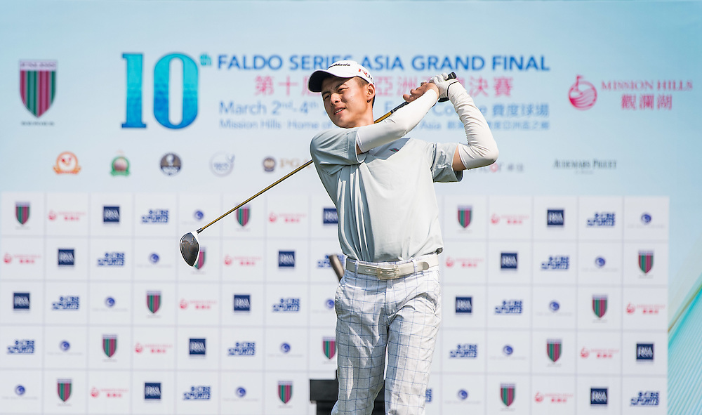 Tirto Tamardi of Indonesia in action during day one of the 10th Faldo Series Asia Grand Final at Faldo course in Shenzhen, China. Photo by Xaume Olleros.