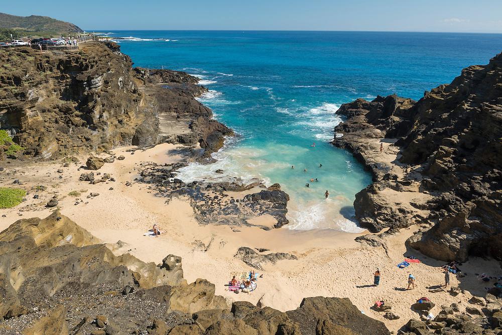 USA, Hawaii, Oahu,USA, Hawaii, Oahu, Honolulu,Halona Blowhole Lookout