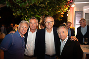 August 15, 2019:  Monterey Car Week, Stefano Domenicali, CEO of Lamborghini, Maurizio Reggiani, head of Lamborghini R&D, Jean Todt, President of the FIA