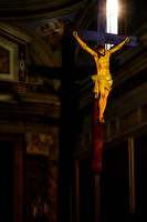 """Illuminated crucifix in Cathedral of Saints Philip and James – Sorrento""… <br />