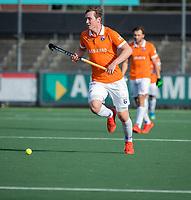 AMSTELVEEN - Floris Wortelboer (Bldaal)  tijdens de oefenwedstrijd tussen Amsterdam en Bloemendaal heren.    COPYRIGHT  KOEN SUYK