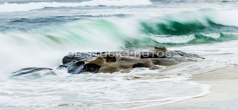 Windansea Beach Oceanscape Stock Photo