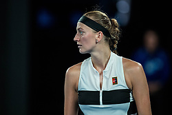 January 24, 2019 - Melbourne, VIC, U.S. - MELBOURNE, VIC - JANUARY 24: PETRA KVITOVA (CZE) during day ten match of the 2019 Australian Open on January 24, 2019 at Melbourne Park Tennis Centre Melbourne, Australia (Photo by Chaz Niell/Icon Sportswire (Credit Image: © Chaz Niell/Icon SMI via ZUMA Press)