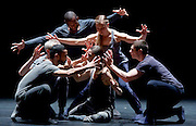 Kidd Pivot/ Electric Company Theatre<br /> Betroffenheit<br /> by Created by Crystal Pite and Jonathan Young<br /> <br /> Written by: Jonathon Young<br /> Choreographed and Directed by: Crystal Pite<br /> <br /> <br /> Sadler's Wells, London, Great Britain <br /> <br /> 11th April 2017 <br /> <br /> <br /> <br /> Performers: <br /> <br /> Bryan Arias<br /> <br /> David Raymond<br /> <br /> Cindy Salgado<br /> <br /> Jermaine Spivey<br /> <br /> Tiffany Tregarthen<br /> <br /> Jonathon Young<br /> <br /> <br /> Photograph by Elliott Franks <br /> Image licensed to Elliott Franks Photography Services