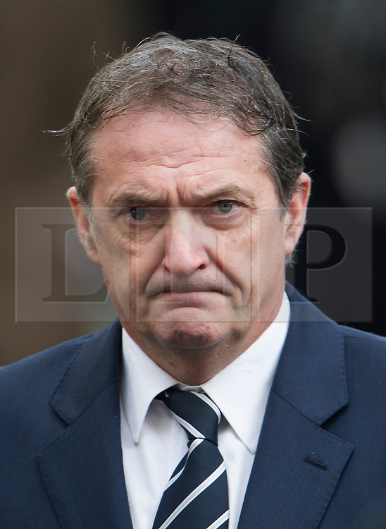 © London News Pictures. 13/02/2014. London, UK. Former footballer Gary Mabbutt leaving the church.  The funeral of actor Roger Lloyd-Pack at St Pauls Church also known as 'The Actor's Church'  in Covent Garden, London. Roger Lloyd-Pack was famous for playing roles such as Trigger in Only Fools and Horses and Owen Newitt in the The Vicar of Dibley. Photo credit : Ben Cawthra/LNP