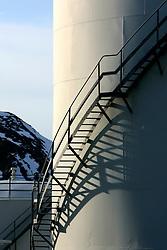 NORWAY HAMMERFEST 23MAR07 - Shell fuel depot in Tjuven near Hammerfest, the world's most northerly town...jre/Photo by Jiri Rezac..© Jiri Rezac 2007..Contact: +44 (0) 7050 110 417.Mobile:  +44 (0) 7801 337 683.Office:  +44 (0) 20 8968 9635..Email:   jiri@jirirezac.com.Web:    www.jirirezac.com..© All images Jiri Rezac 2007 - All rights reserved.