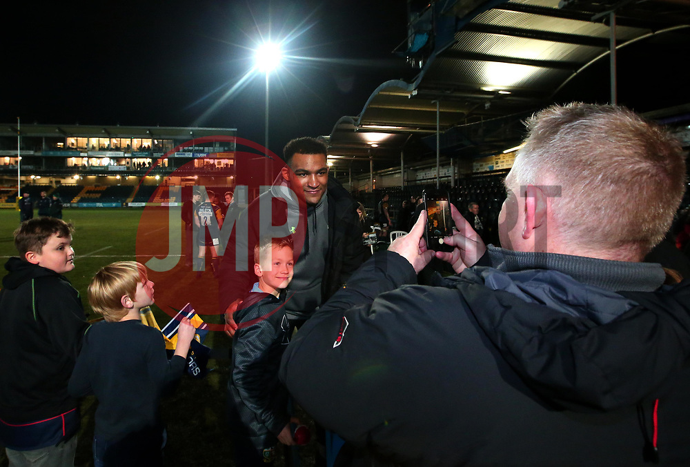 Christian Scotland-Williamson of Worcester Warriors poses for photos with fans - Mandatory by-line: Robbie Stephenson/JMP - 22/12/2017 - RUGBY - Sixways Stadium - Worcester, England - Worcester Warriors v London Irish - Aviva Premiership