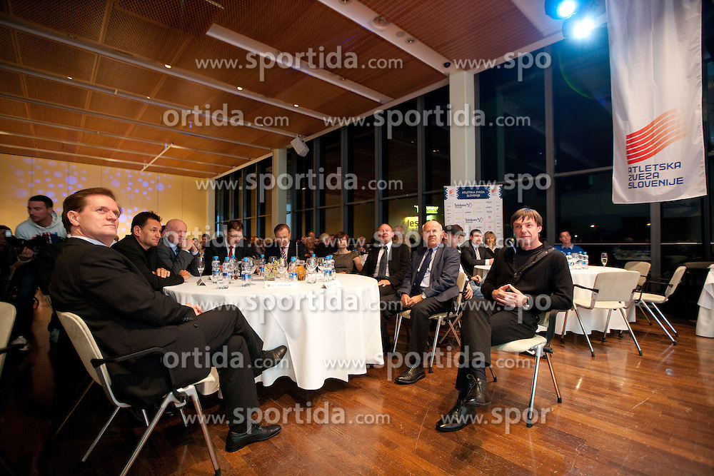 Boris Dular, Marjan Hudej, Igor Luksic, Peter Kukovica, Dusan Sesok, Janez Kocijancic during the Slovenia's Athlete of the year award ceremony by Slovenian Athletics Federation AZS, on November 12, 2008 in Hotel Mons, Ljubljana, Slovenia.(Photo By Vid Ponikvar / Sportida.com) , on November 12, 2010.