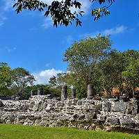 The Columns Building at San Gervasio near San Miguel, Cozumel, Mexico<br />