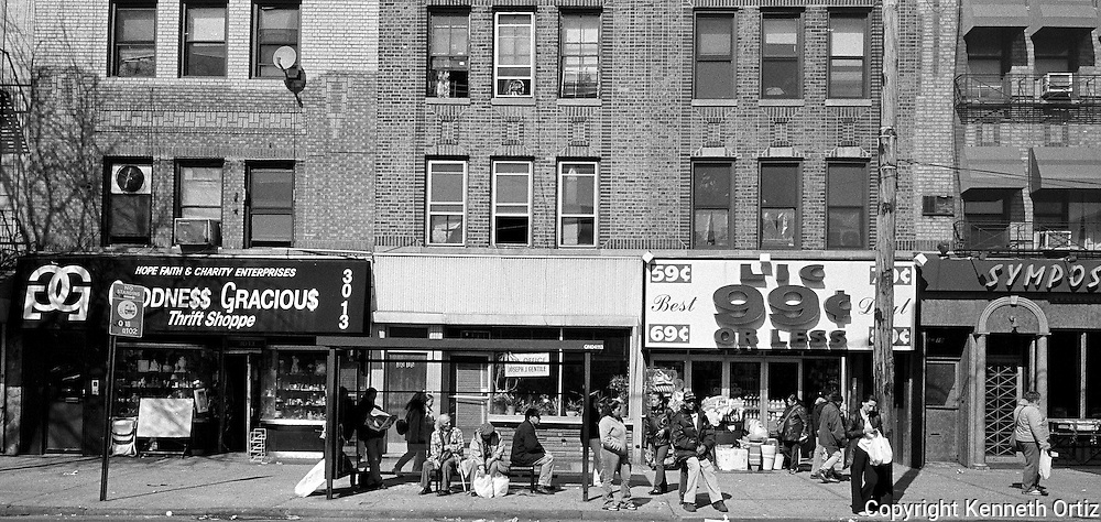 Waiting for the bus at 30th Avenue in Astoria Queens during the Summer of 2004.