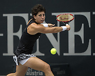 Carla Suarez Navarro (ESP) during the WTA Generali Ladies Open at TipsArena, Linz<br /> Picture by EXPA Pictures/Focus Images Ltd 07814482222<br /> 11/10/2016<br /> *** UK & IRELAND ONLY ***<br /> <br /> EXPA-REI-161011-5010.jpg