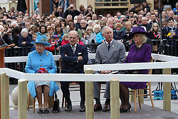 October 27, 2016 - Poundbury, United Kingdom - Image licensed to i-Images Picture Agency. 27/10/2016. Poundbury, United Kingdom. The Queen and The Duke of Edinburgh, accompanied by The Prince of Wales and The Duchess of Cornwall visit Poundbury in Dorset, United Kingdom. Picture by Stephen Lock / i-Images (Credit Image: © Stephen Lock/i-Images via ZUMA Wire)