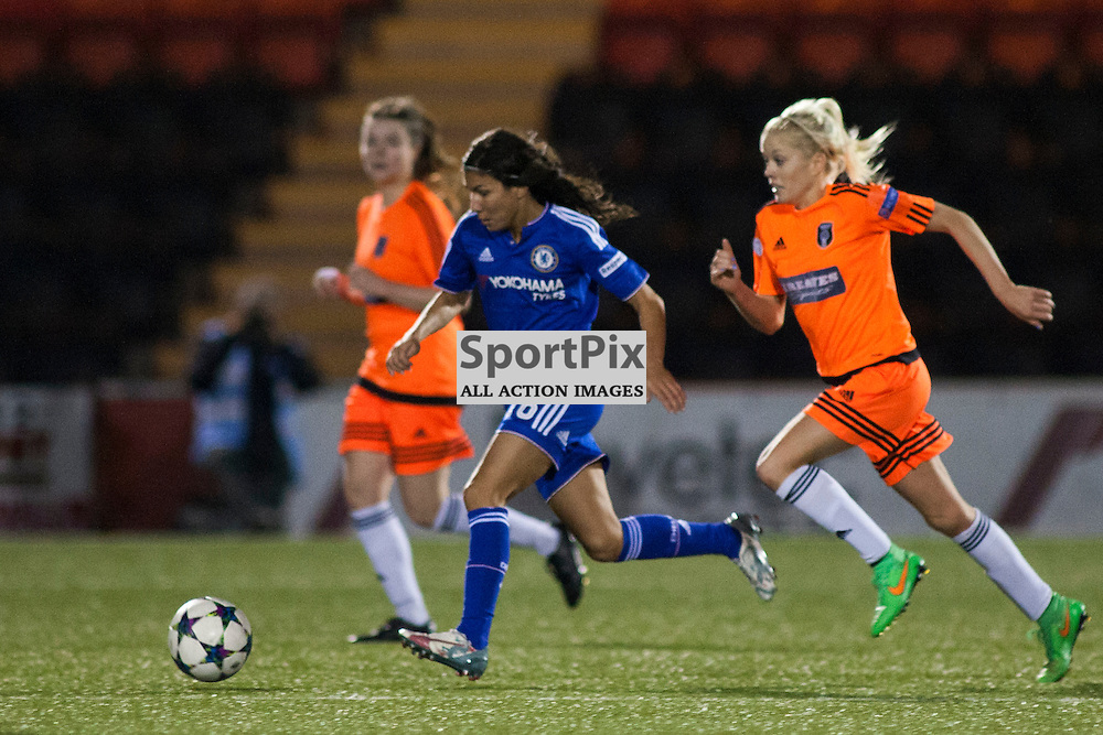 Ana Borges for Chelsea in the Glasgow City v Chelsea LFC Women's Champions League last-32 2nd Leg 14 October 2015<br />