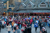 Inez plays to a crowd in Village Square during the 2010 Olympic Winter games in Whistler, BC Canada.