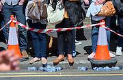 London. United Kingdom. 2014 London Marathon.  Narrow Street Limehouse, East London. Athletics 12:42:26  Sunday  13/04/2014  [Mandatory Credit; Peter SPURRIER/ Intersport Images],