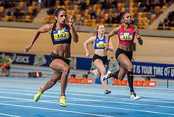 11-02-2017 NED: AA Drink NK Indoor, Apeldoorn<br /> Madiea Ghafoor 142, Kadene Petégaye Vassell 412 op de 60 meter