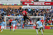 Manchester United forward Marcus Rashford (10) in action  during the Premier League match between Huddersfield Town and Manchester United at the John Smiths Stadium, Huddersfield, England on 5 May 2019.